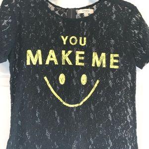 Umgee Black Lace Shirt